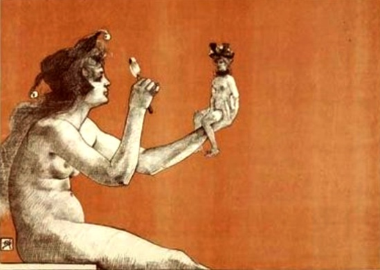Armand Rassenfosse. Poster pour le Salon des Cents 1896
