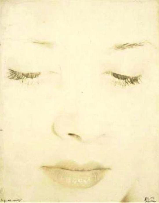 Rémy Duval. Portrait féminin surexposé 1935 Via drouot