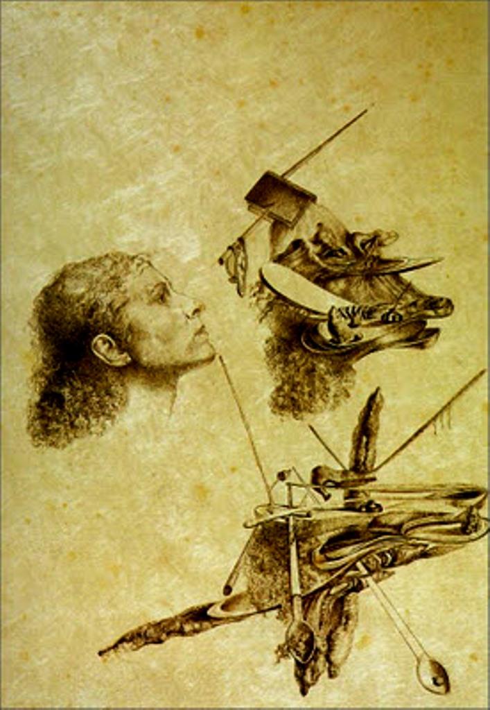 Salvador Dalí. Metamorfosis paranoica del rostro de Gala 1932
