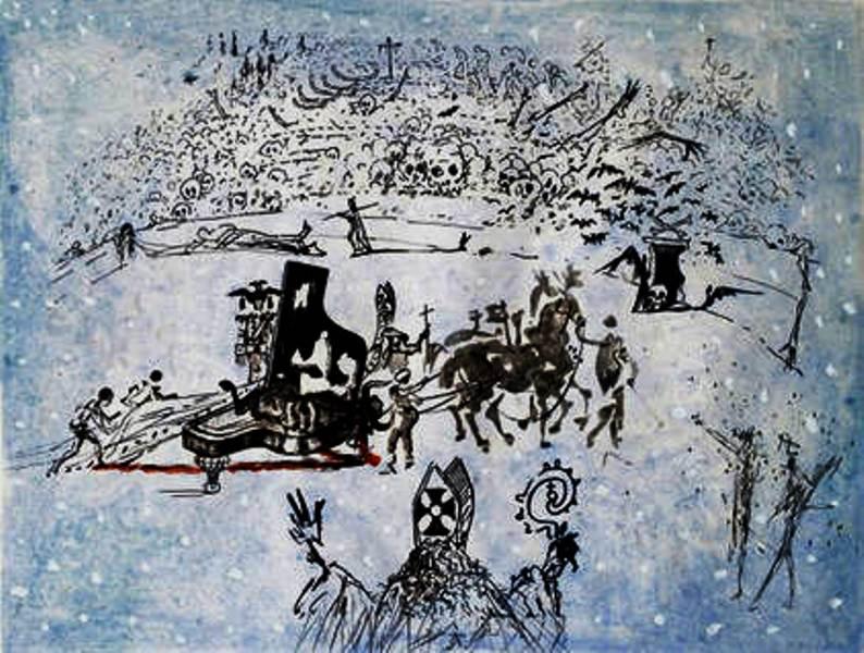 Salvador Dali 1904-1989 – Le piano sous la neige
