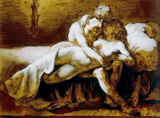 Théodore Géricault. Le baiser 1822