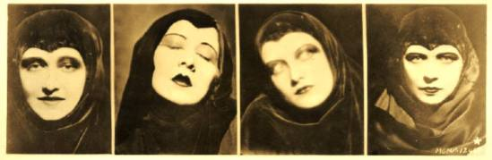 Anonymous, The actors,Dorothy Sebastian, Gwen Lee, John Crawford and Renée Adorée 1930 Via anamorfose