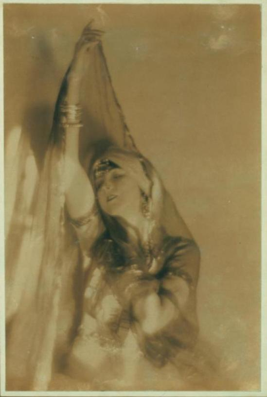 Baron Adolf de Meyer. Ruth St Denis in Ourieda, a Romance of the Desert. (1914) Via nypl