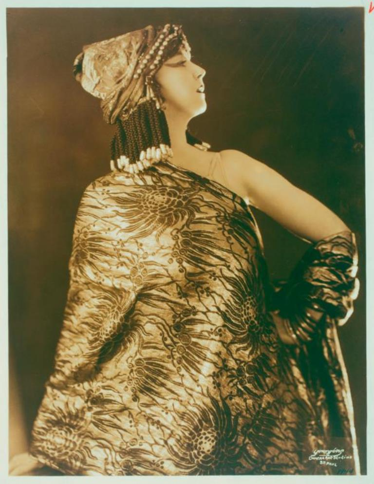 Camera Arts Studios. Ruth St. Denis in Dancer from the Court of King Ahasuerus Via nypl