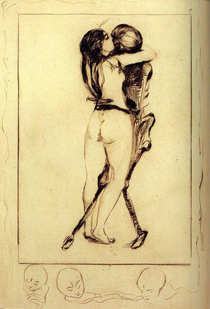 Edvard Munch. La jeune fille et la mort 1894