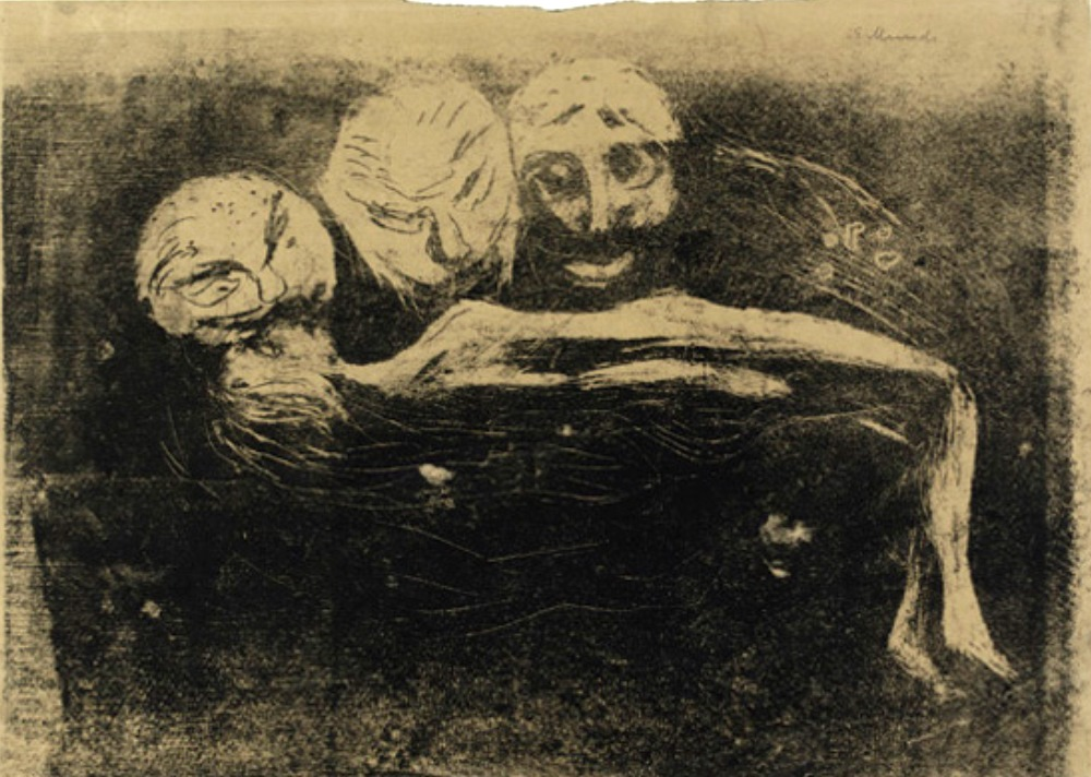 Edward Munch. Desire 1898. Lithographie