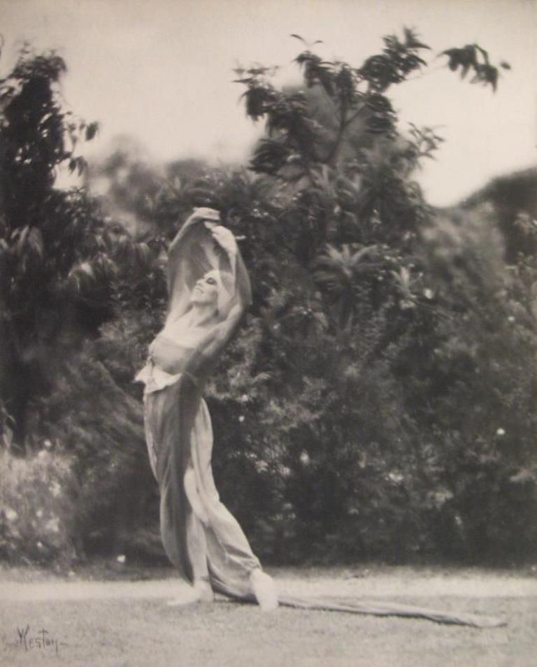 Edward Weston. Portrait of Katherine Edson in motion 1915 Via igavelauctions
