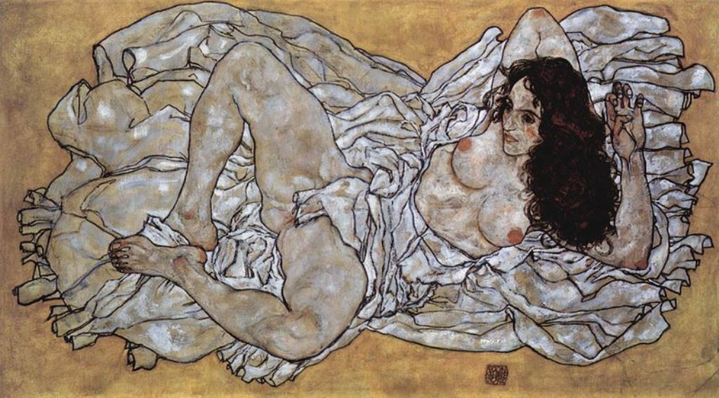 Egon Schiele. Femme allongée 1917