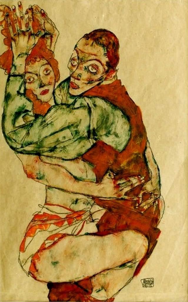 Egon Schiele. Love making