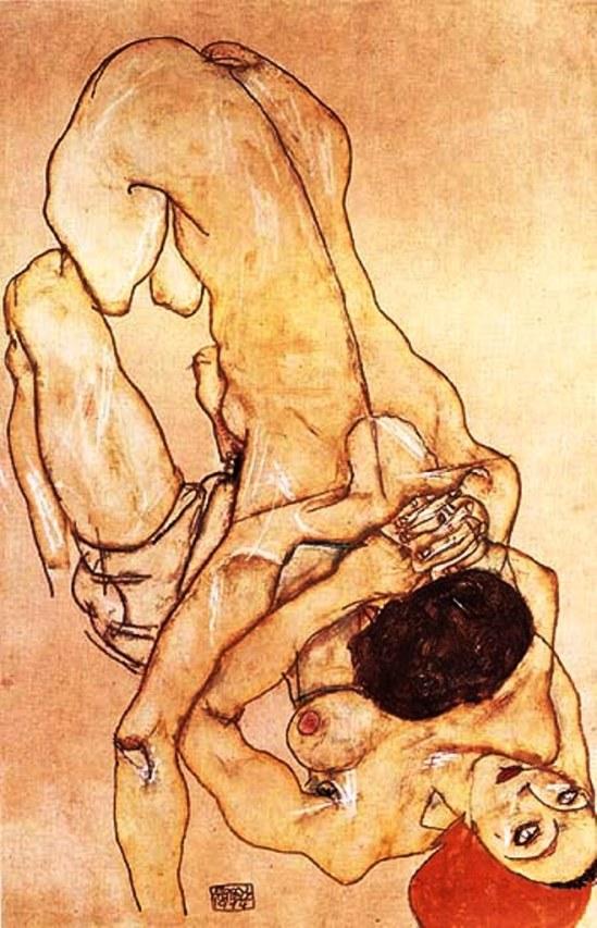 Egon Schiele. Two girls 1917