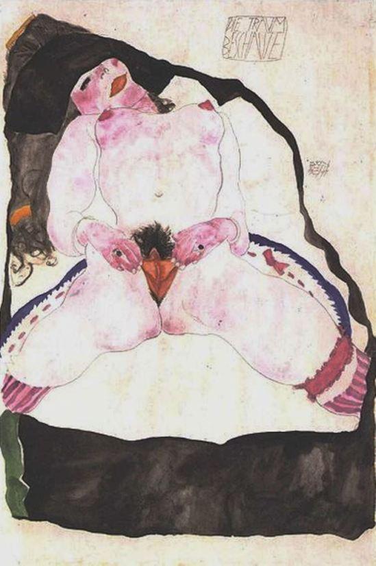 Egon Schiele. Woman seen in a dream 1911