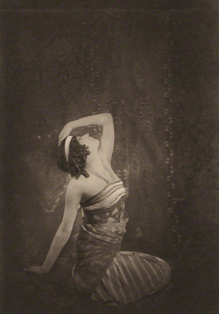 Emil  Otto Hoppé. Sophie Fedorova as Ta-Hor in Cleopatra 1911 Via npg
