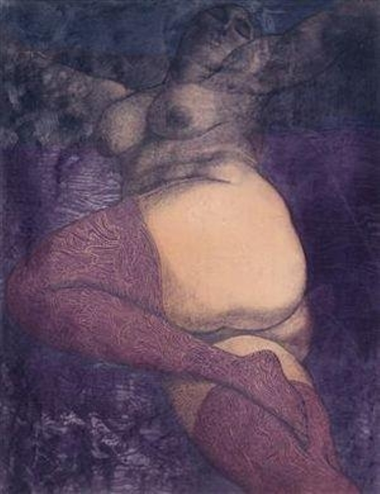 Ernst Fuchs. In bed (the great nana) 1972