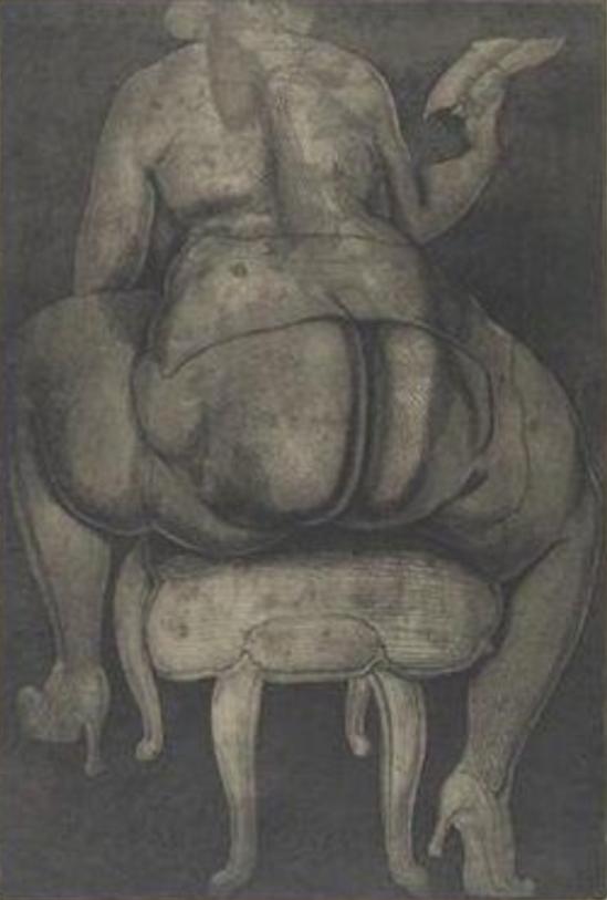 Ernst Fuchs. Love letter 1968
