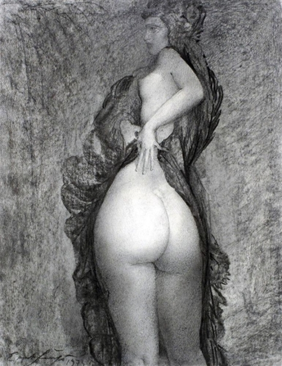 Ernst Fuchs. The wife of the painter 1974