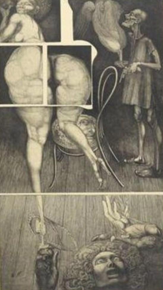 Ernst Fuchs. Venus centaur 1967