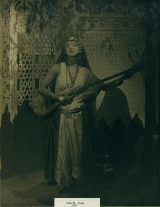 Francis Bruguière. Ruth St. Denis in Garden of Kama. (1916) Via nypl