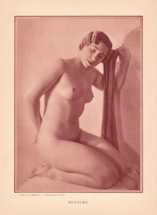 G.L. Arlaud. Potiche. Nu artistique vers 1930 Via ebay