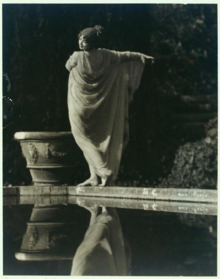 J. Walter  Collinge. Ruth St. Denis in Greek Veil costume. (ca. 1920) Via nypl