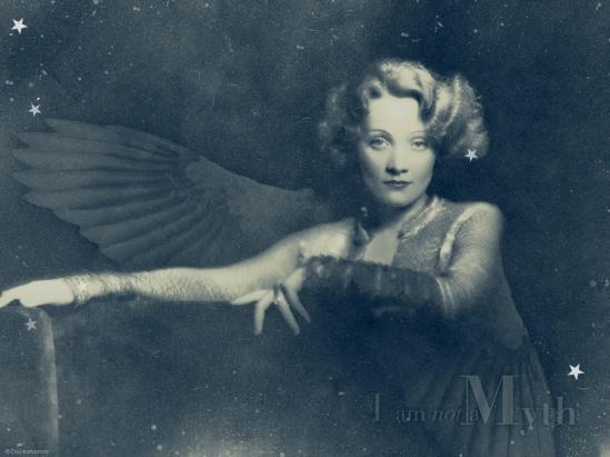 Sylvie's wallspaper. Marlene Dietrich. I'm not a myth Via doctormacro