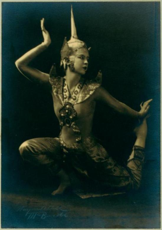 Mc Bride. Ruth St. Denis in Siamese Ballet. (1918) Via nypl