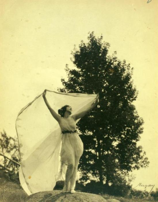 Nickolas Muray. Ruth St. Denis a personal study taken out of doors at Mariarden. (1923) Via nypl