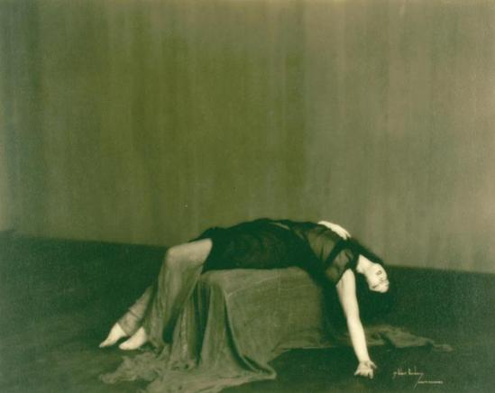 Robert Bordeaux. Ruth St. Denis in Poetry, Music and Dance Series offering versions of Denishawn works. (ca. 1921)  Via nypl