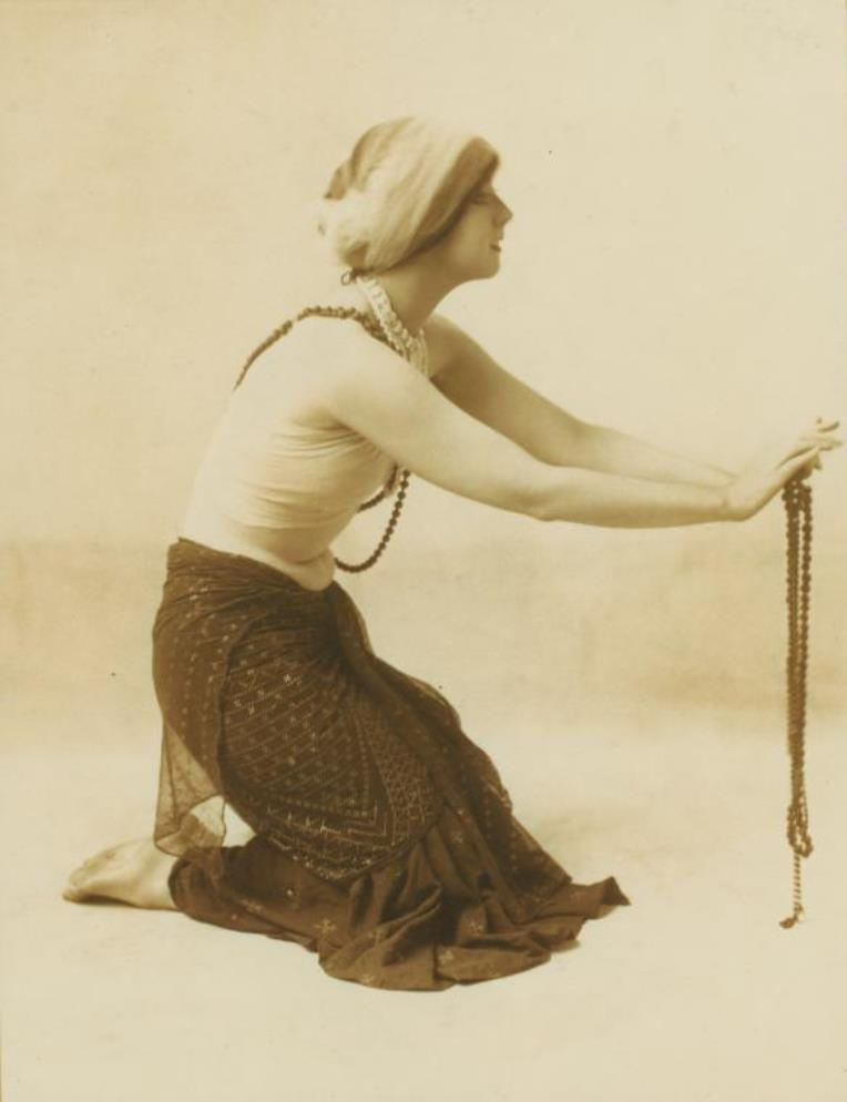 Ruth St. Denis in costume. (ca. 1910) Via nypl