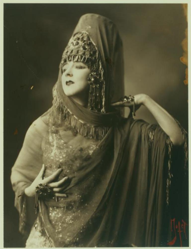 Ruth St. Denis in Ishtar of the Seven Gates Via nypl