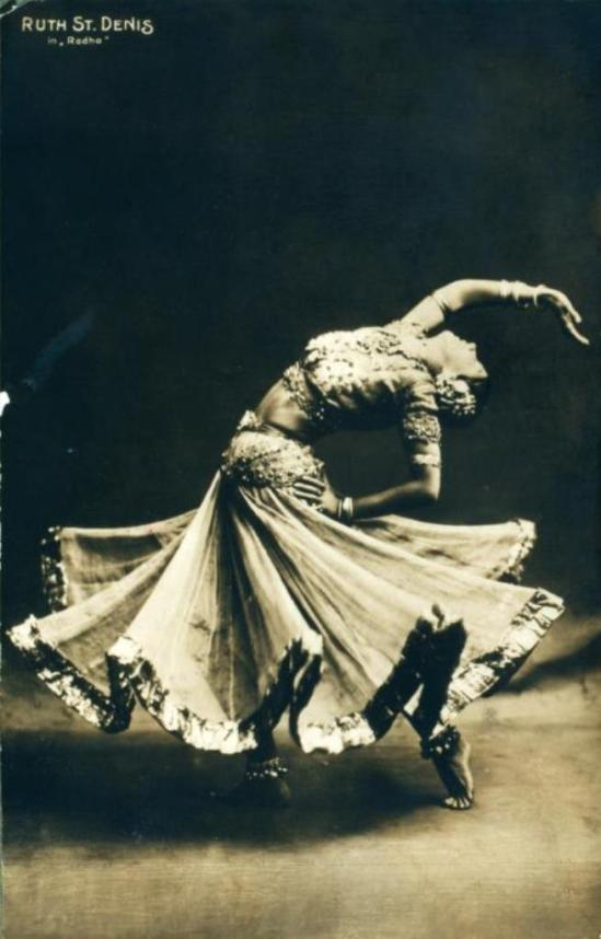 Ruth St. Denis in Radha 1906 Via nypl