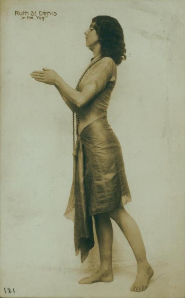Ruth St. Denis in The Yogi. (1906) Via nypl
