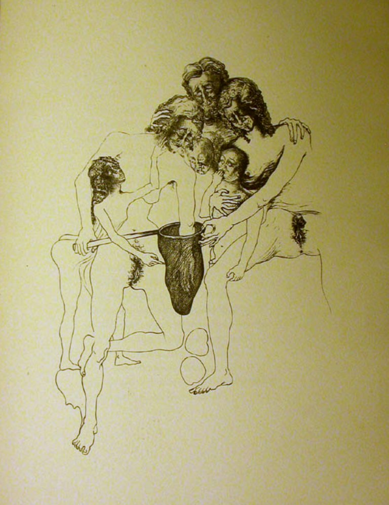 Salvador Dali. La femme visible. Plate 4