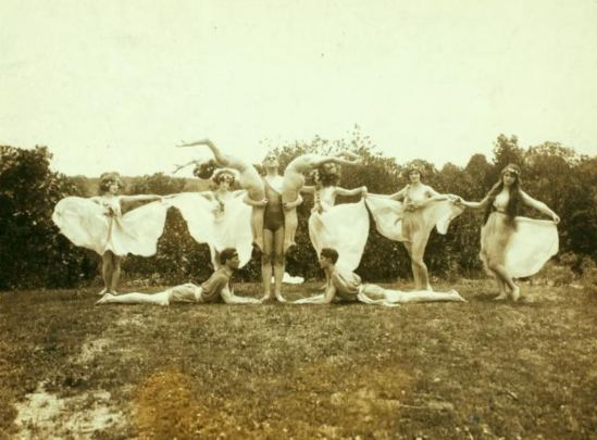 Ted Shawn and Denishawn Dancers at Mariarden. Via NYPL