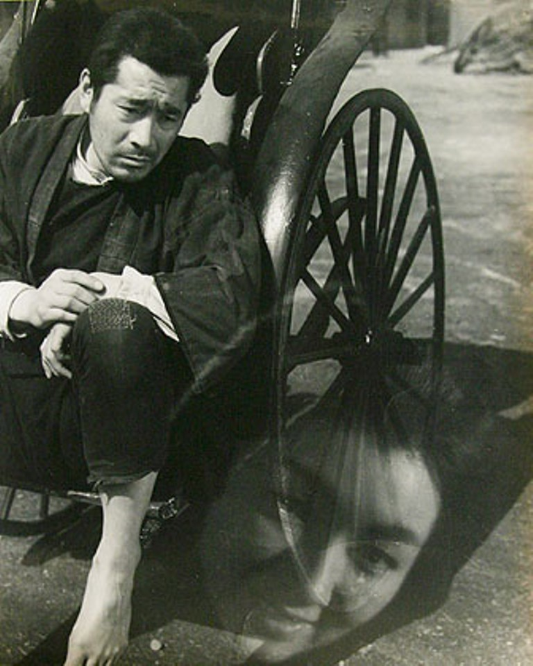 Toho Studio. Studio still of Toshiro Mifune from the movie Rickshaw Man. 1958 Via sakura-do