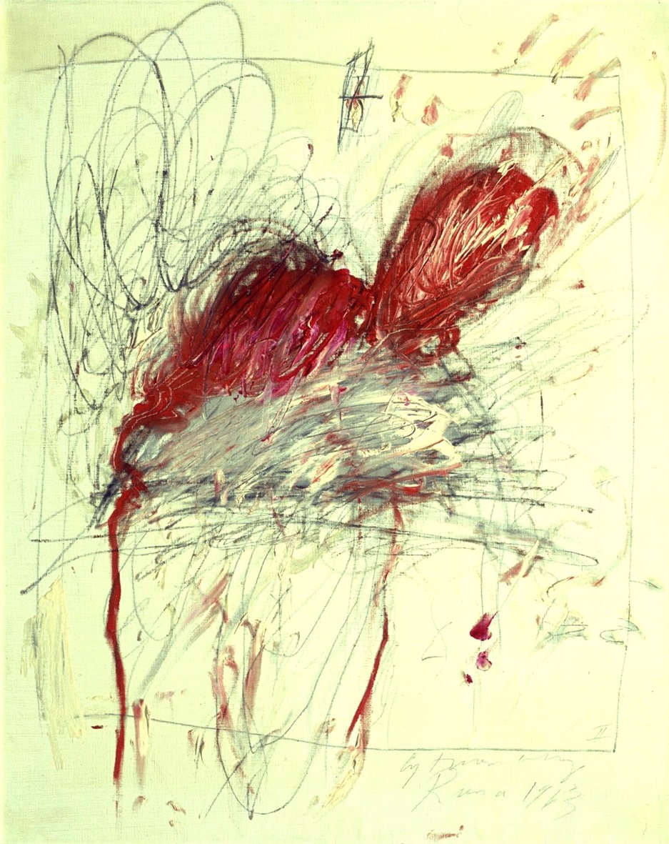 Twombly. Leda and the swan 1963
