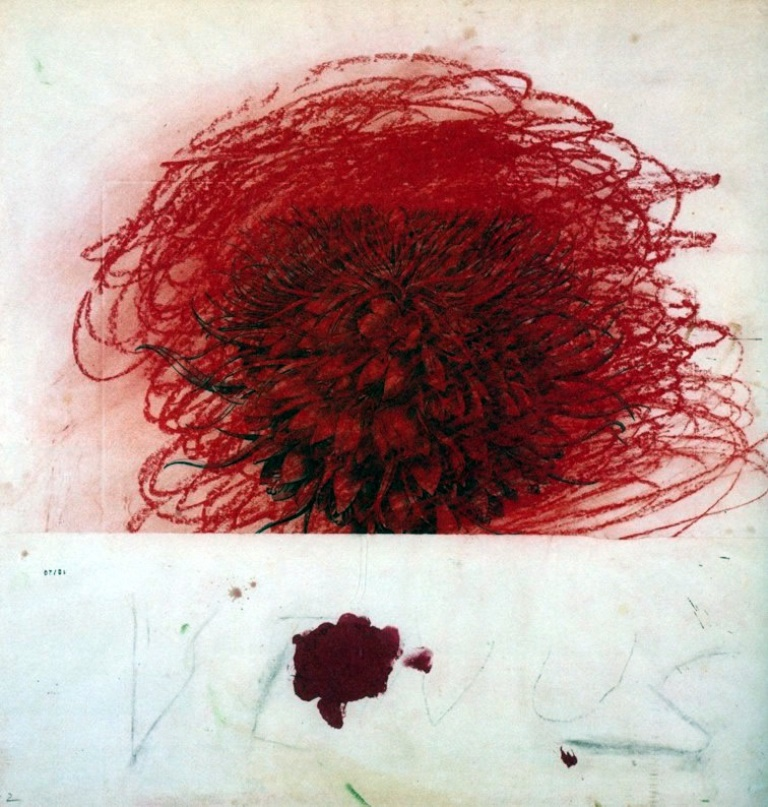 Twombly. Pan (Part II), 1980. Mixed media on paper