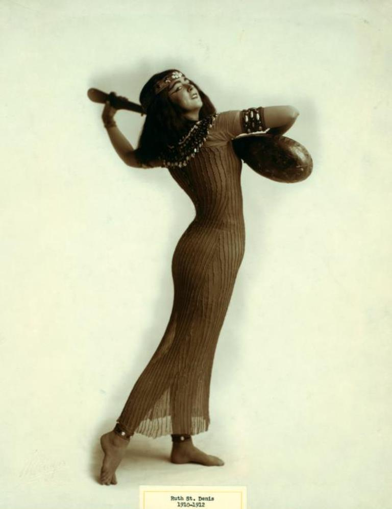 Walinger. Ruth St. Denis in Egypta. (1910-1912) Via nypl