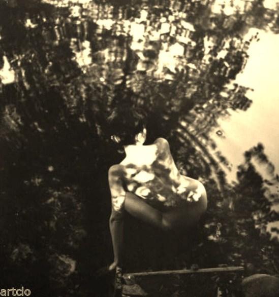 Zdenka Virta. Nu à l'étang 1966 Via ebay