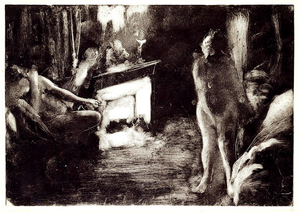 Edgar Degas. The fireside 1876–1877. Monotype
