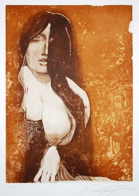 Ernst Fuchs. Phantom lady 1990