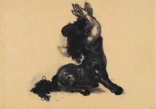 Jean-Luc Verna . Mélanie, naine espagnole 1995. Dessin (crayon)