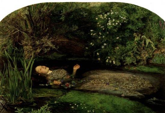 John Everett Millais. La mort d'Ophélie 1852