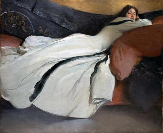 John White Alexander. Repose 1895. Oil on canvas 132.7 cmx 161.6 cm
