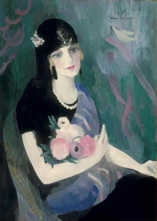 Marie Laurencin. Portrait de la Baronne Gourgaud à la mantille Noire 1924