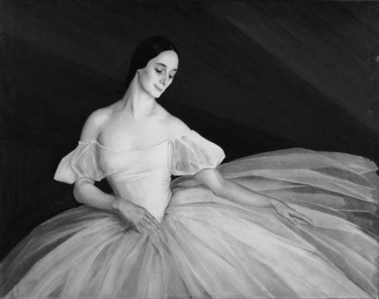 Sorine Savely Abramovitch. Portrait de la danseuse Anna Pavlova 1922. Crayon (dessin), fusain, gouache, huile sur papier