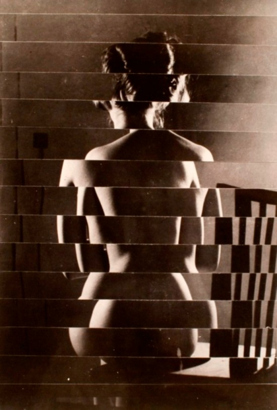Vaclav Chochola. Back nude rollage 1960 Via livejournal