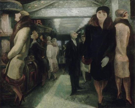 Yves Alix. Le rayon des bas de soie 1928