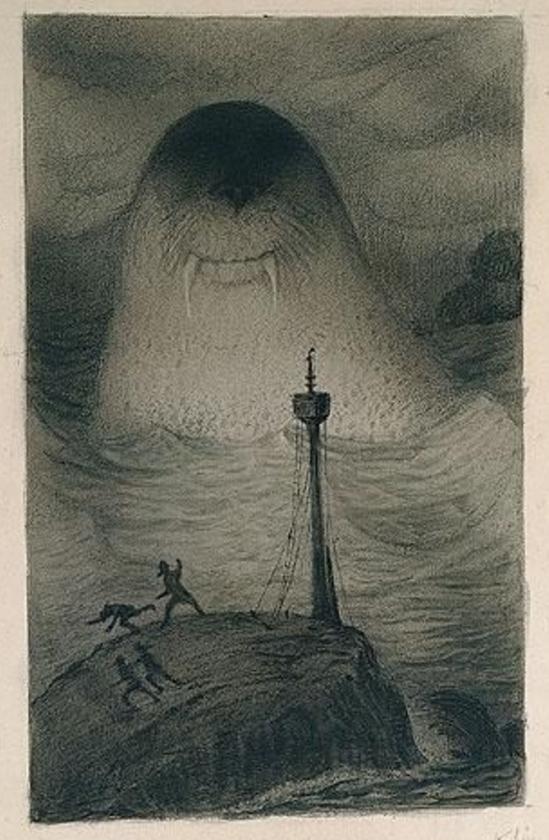 Alfred Kubin. Sea monster