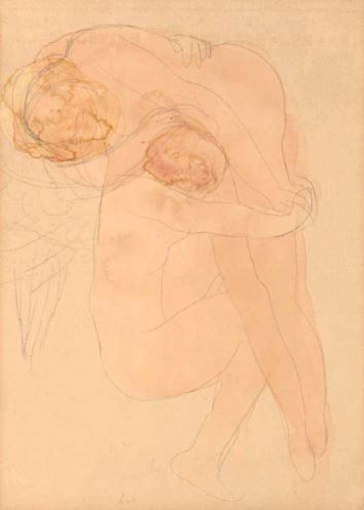 Auguste Rodin. Femme accroupie soutenant une autre sur son épaule vers 1900