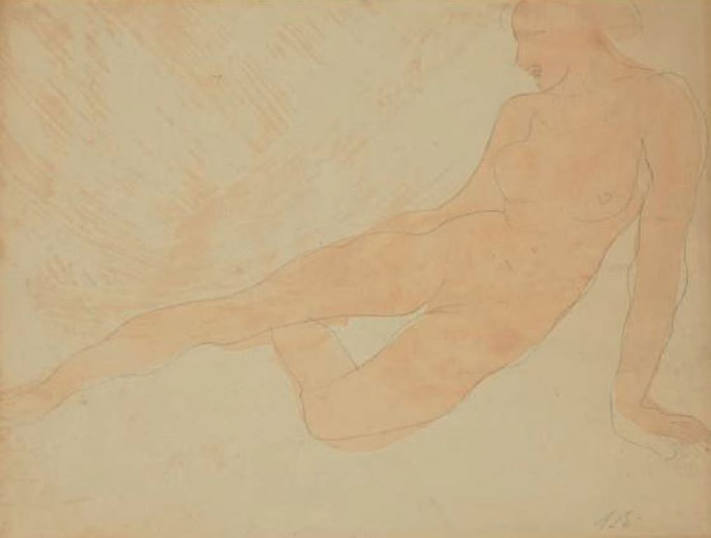 Auguste Rodin. Femme couchée entre 1896 et 1900